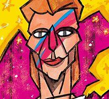 Bowie Aladdin Sane by josefomalatrova
