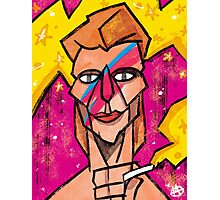 Bowie Aladdin Sane Photographic Print