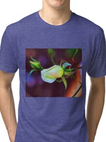 Abstract flowers drawing in pastel colors Take 11 Tri-blend T-Shirt