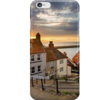 Whitby Sunset Steps iPhone Case/Skin