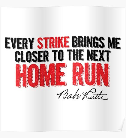 Babe Ruth - Strikes Poster