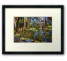 Lily Pads On Air Framed Print