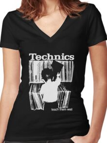 technics 1 Women's Fitted V-Neck T-Shirt