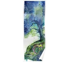 Oak Tree Fireflies Poster