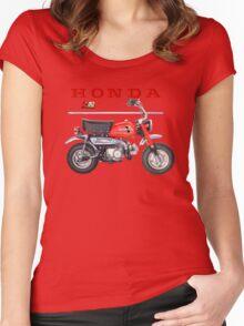 Honda ZA 50 Vintage Mini bike Women's Fitted Scoop T-Shirt