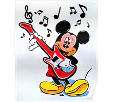 ROCKING MICKEY Poster