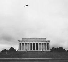 solo flight at lincoln memorial by tara romasanta