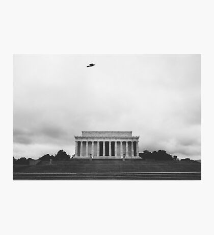solo flight at lincoln memorial Photographic Print