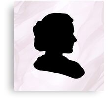 Marie Curie Silhouette  Canvas Print