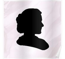 Marie Curie Silhouette  Poster