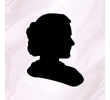 Marie Curie Silhouette  Photographic Print