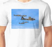 5-ship Warbirds Formation Unisex T-Shirt