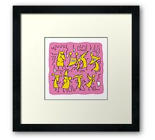 Cartoon Funny Mouses Framed Print