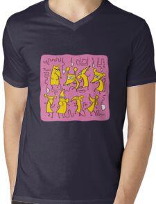 Cartoon Funny Mouses Mens V-Neck T-Shirt