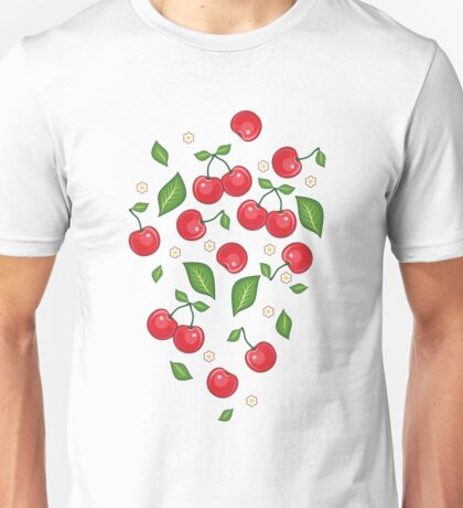 Red Cherry Seamless Pattern  Unisex T-Shirt