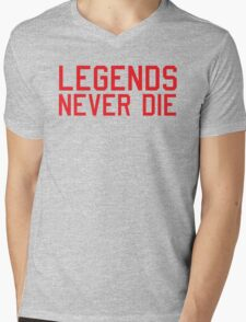 Legends Never Die Mens V-Neck T-Shirt
