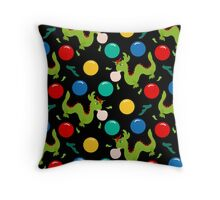 Dragon Bubblegum Pattern Throw Pillow