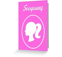 Girls Generation (SNSD) Sooyoung Barbie Design Greeting Card