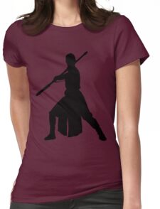 Rey - Fighting Stance Silhouette Womens Fitted T-Shirt