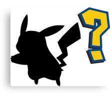 Who's That Pokemon - Pikachu Canvas Print