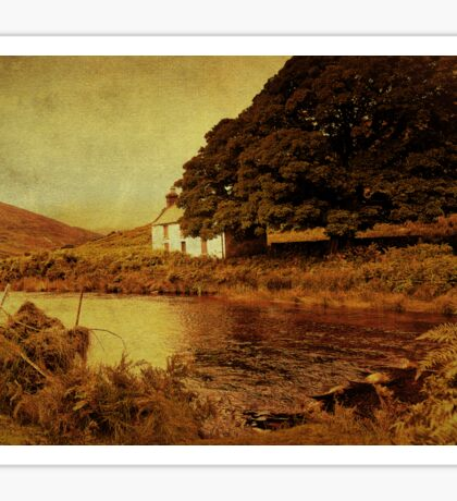 Once Upon a Time. Somewhere in Wicklow Mountains. Ireland Sticker