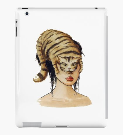 Catling - Watercolor portrait on paper iPad Case/Skin