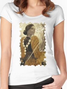 Josephine Tarot Card Women's Fitted Scoop T-Shirt