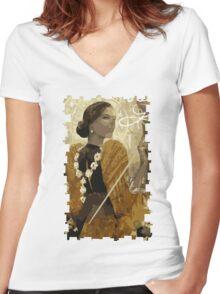 Josephine Tarot Card Women's Fitted V-Neck T-Shirt