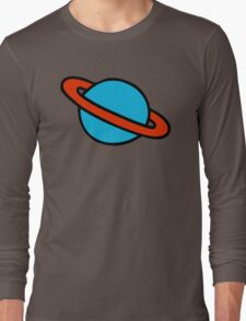 Space Planets Pattern Long Sleeve T-Shirt