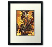 Argonian Flames Framed Print