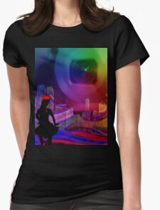 City Party night Womens Fitted T-Shirt
