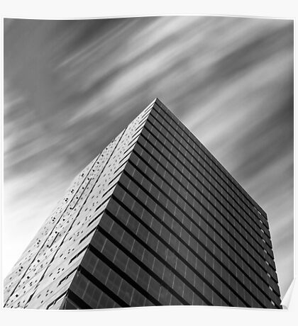 architecture with zooming clouds Poster