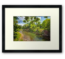 A Tranquil River Framed Print
