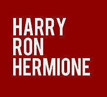 harry, ron, hermione - harry potter by daddydj12