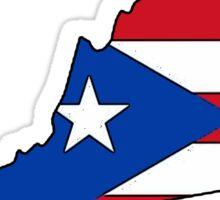 Puerto Rico flag Virginia outline Sticker