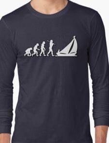 Evolution Sailing 01 by Stencil8 Long Sleeve T-Shirt