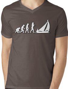 Evolution Sailing 01 by Stencil8 Mens V-Neck T-Shirt