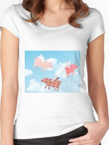 Pigs might fly Women's Fitted Scoop T-Shirt