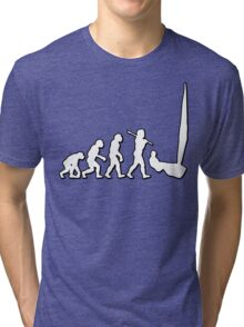 Evolution Sailing 02 by Stencil8 Tri-blend T-Shirt