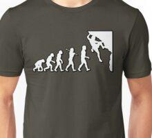 Evolution Rock Climbing by Stencil8 Unisex T-Shirt