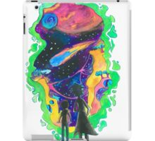 The Universe is a Crazy Chaotic place Morty iPad Case/Skin