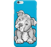 Pit Bull  Pup Tilted Head Cartoon White iPhone Case/Skin