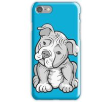 Bully Pup Tilted Head  iPhone Case/Skin