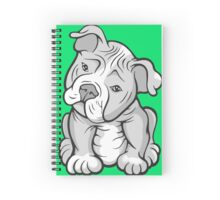 Pit Bull  Pup Tilted Head Cartoon White Spiral Notebook