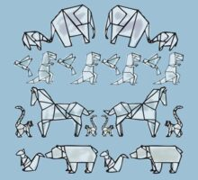 More Origami Animals One Piece - Short Sleeve