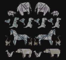 More Origami Animals Baby Tee