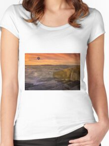 Alki Sunset Women's Fitted Scoop T-Shirt