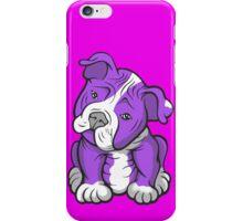 Pit Bull  Pup Tilted Head Cartoon Purple iPhone Case/Skin
