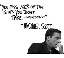 Michael Scott's Inspirational Quote (White) by Baskervillain