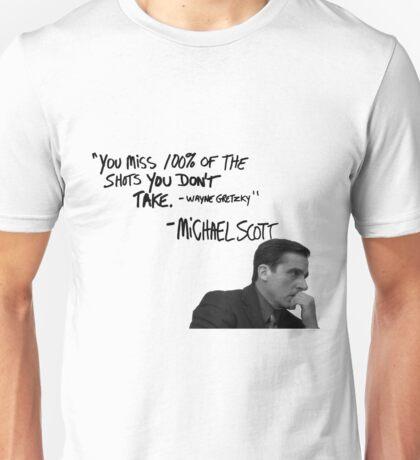 Michael Scott's Inspirational Quote (White) Unisex T-Shirt